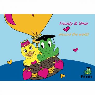 Malbuch Freddy & Gina
