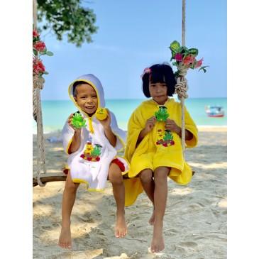 Fred & Gina Poncho jaune