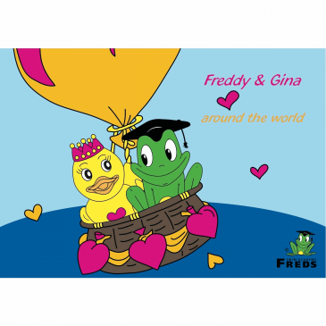 Coloring book Fred & Gina