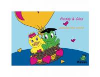 Coloring book Freddy & Gina
